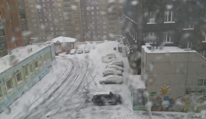 В Норильске выпал первый снег