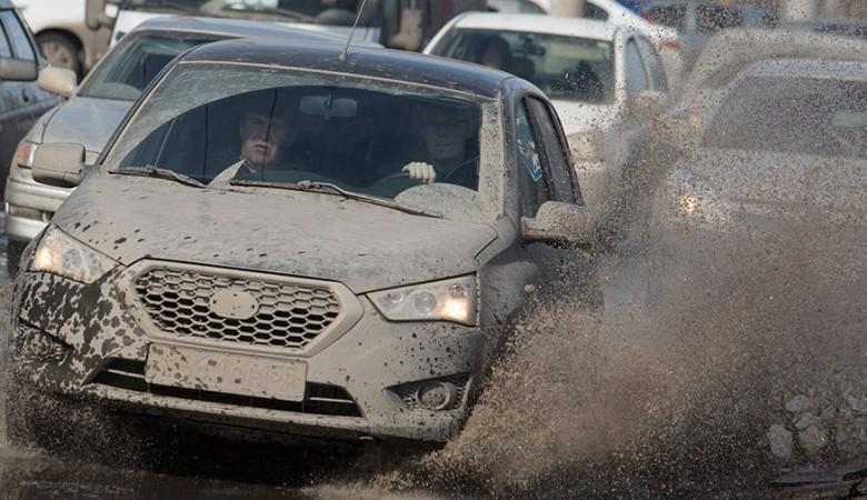 Омск затопило из-за резкого потепления