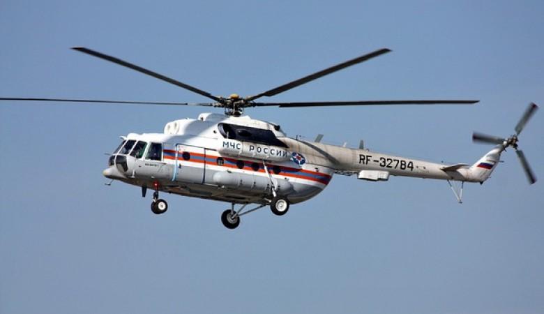 Вертолет Ми-8 МЧС России передислоцирован из Красноярска в Читу для борьбы с пожарами