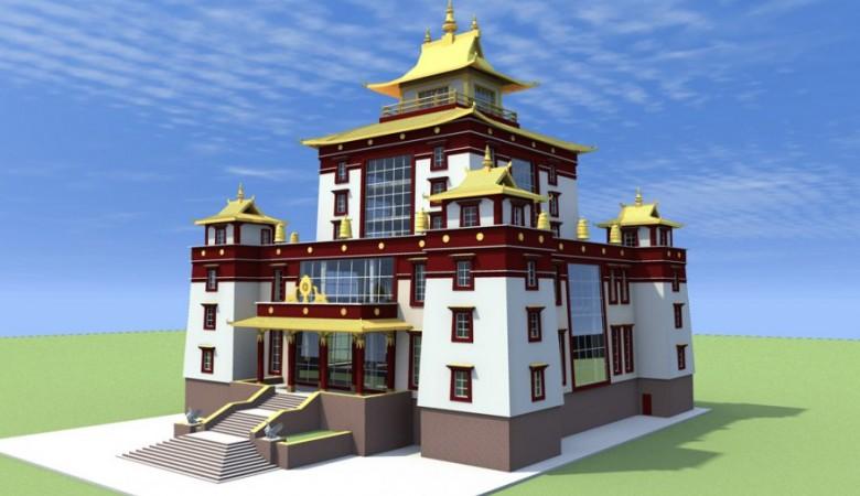 В Туве строят буддийский храм высотой с 17-этажный дом