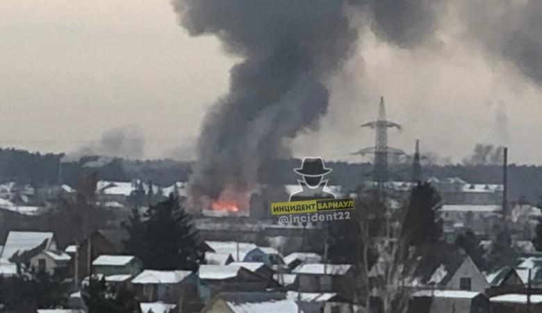 Загорелась исправительная колония №3 в Барнауле