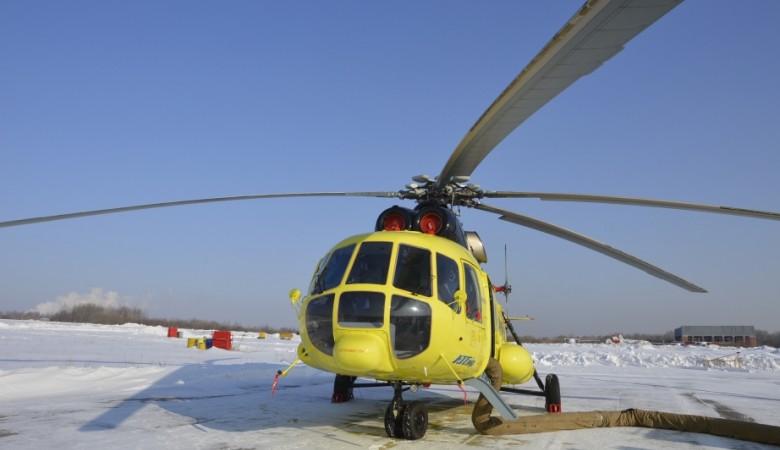 Вертолет совершил жесткую посадку в Томской области