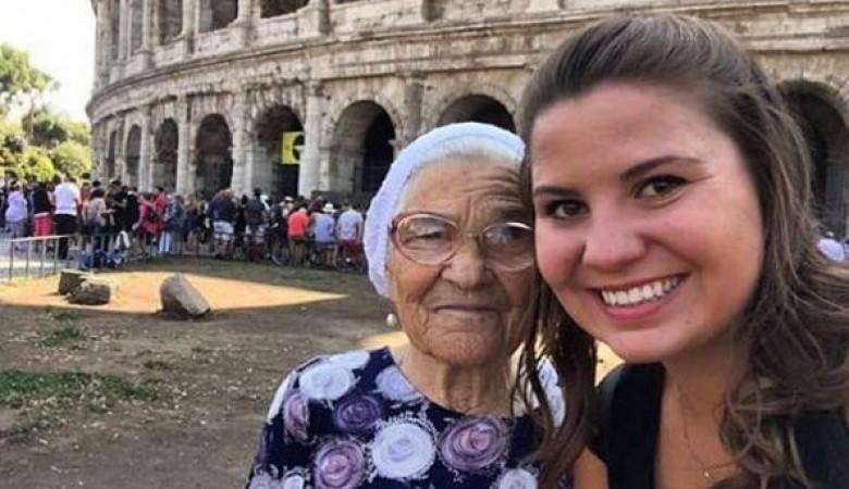 Красноярская путешественница, 90-летняя баба Лена, добралась до Италии и стала телезвездой