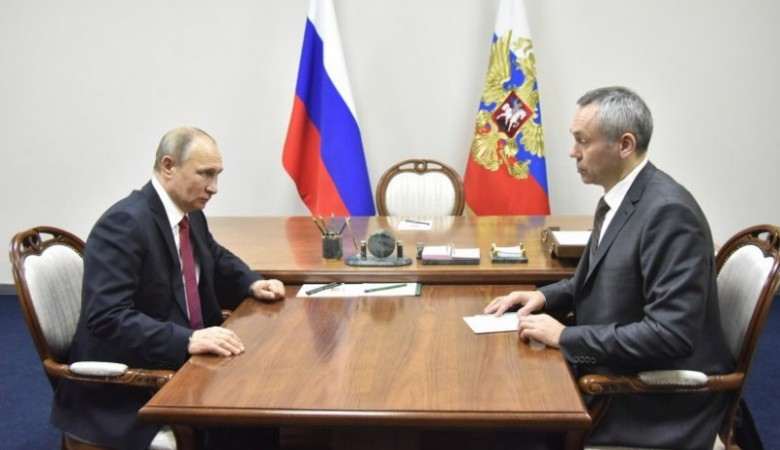 Врио главы Новосибирской области доложил президенту о ситуации с перинатальным центром