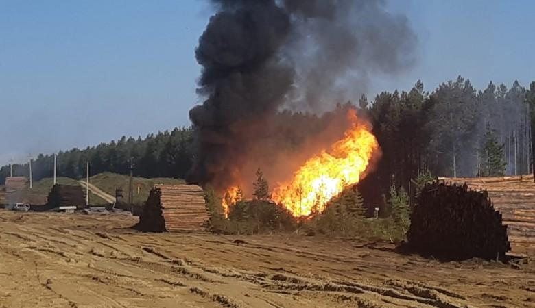 Пожар на газопроводе произошел в Иркутской области
