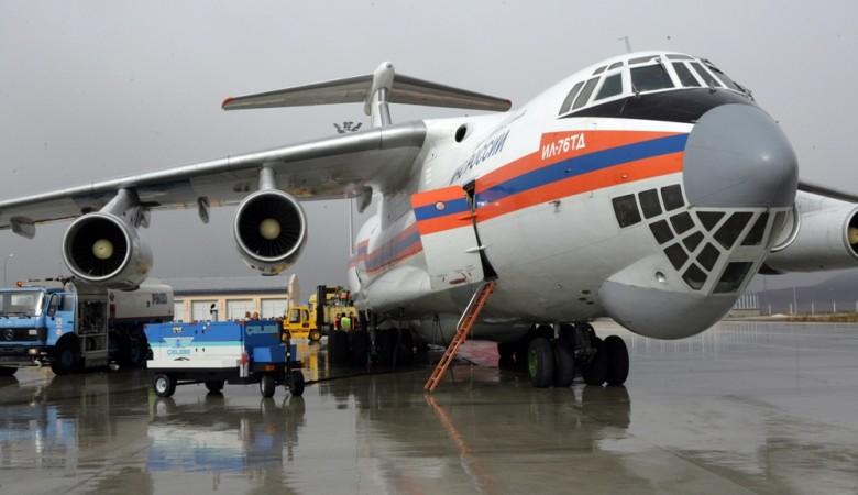 В Забайкалье прилетел Ил-76 на случай больших лесных пожаров