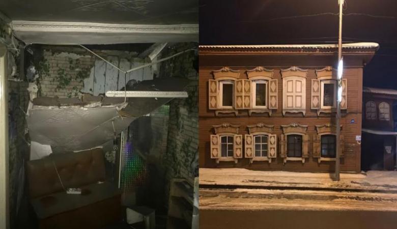 В жилом здании революционного времени в Иркутске в ночь на 23 февраля обрушился потолок