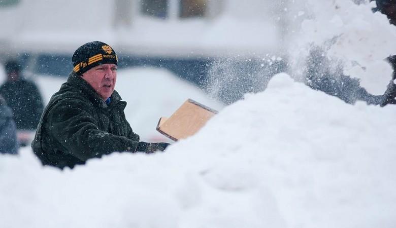 Снег выпал в Красноярске