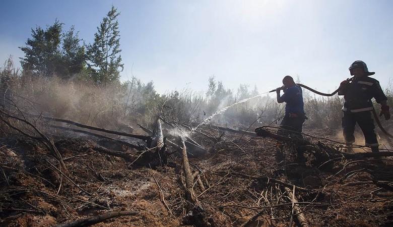Природные пожары угрожают двум поселкам на севере Иркутской области