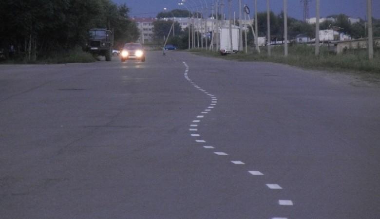 В Хакасии пьяный водитель наносил разметку на дороге
