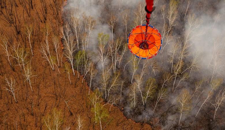 Площадь лесных пожаров в Иркутской области за выходные выросла втрое