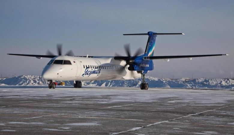 У самолета Bombardier Q-300 с 27 пассажирами отказал двигатель на подлете к Якутску