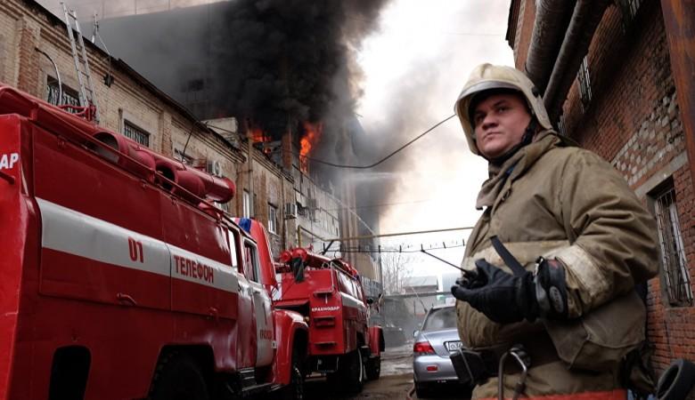 Пожар во дворце спорта в Красноярске ликвидирован