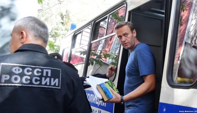 Навальный отбыл 20 суток административного ареста