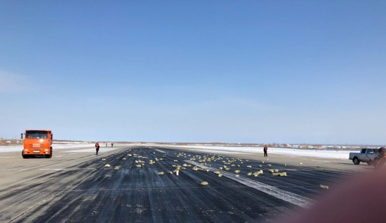 Из самолета, вылетевшего в Красноярск, высыпалось 3,5 тонны золота