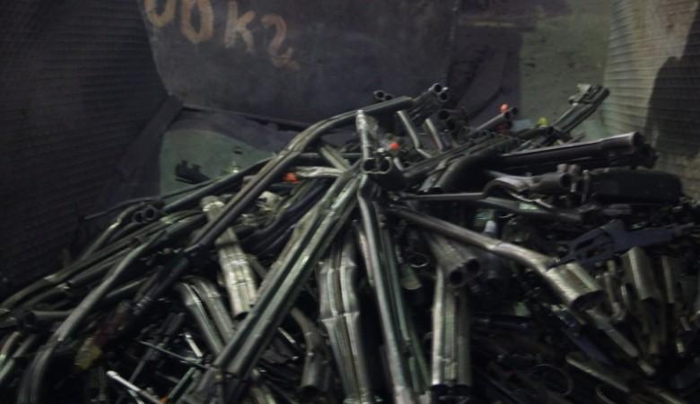 В Забайкалье переплавили 3 тыс. единиц оружия и 38 тыс. патронов