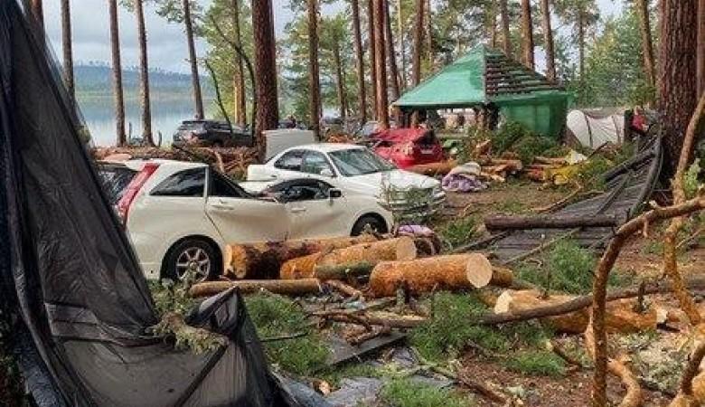 Число жертв обвала деревьев в палаточном лагере Красноярска возросло до двух