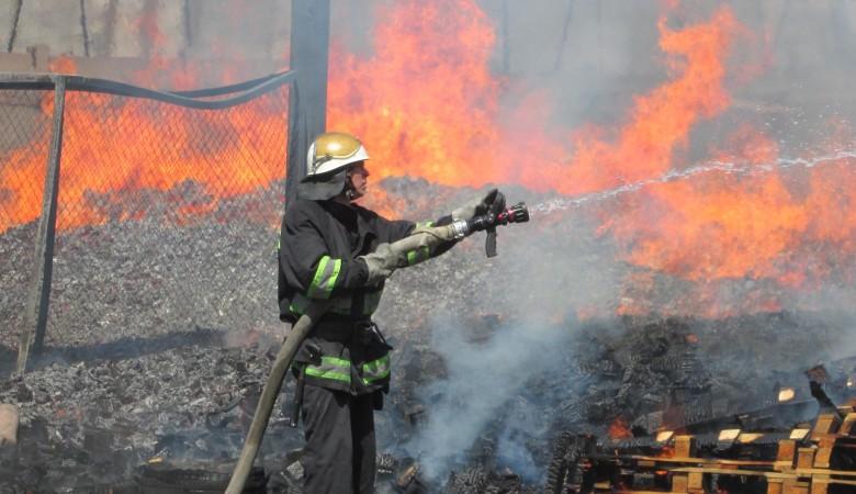 Пожар ввихоревской колонии вБратском районе