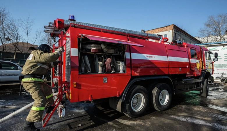 Пожарная машина сбила пешехода в Кемерово