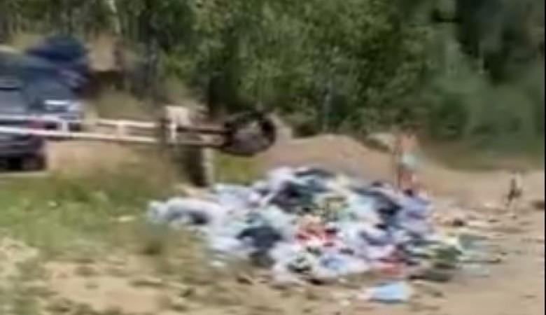 Отдыхающие засняли горы пластика на пляже в Академгородке