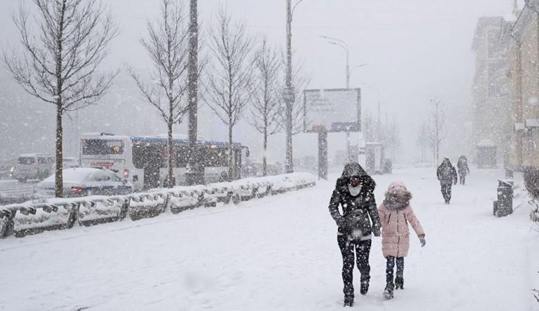 Снегопад начался в Барнауле после 20-градусной жары