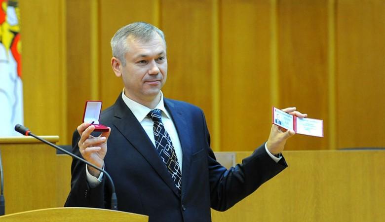 Травников представлен в качестве врио губернатора Новосибирской области