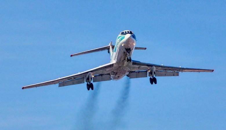 Последний Ту-134 прилетел в Новосибирск, он станет экспонатом музея авиации