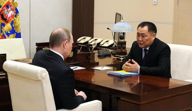 Путин передал «наилучшие пожелания» главе Тувы