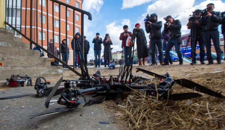 Глава «Почты России» назвал крушение дрона «управляемой жесткой посадкой»