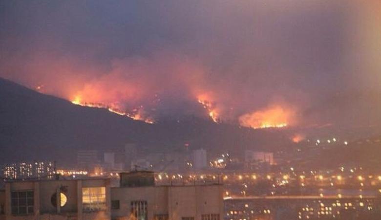 Под Читой загорелась городская свалка
