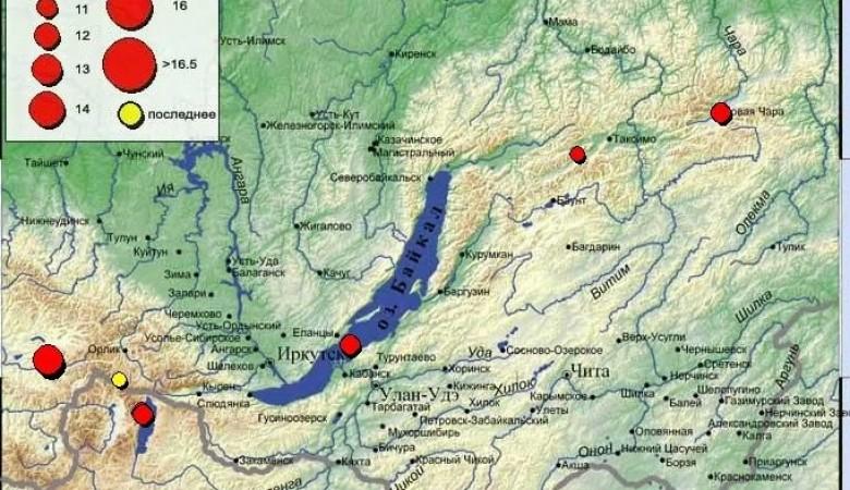 Землетрясение произошло в Бурятии