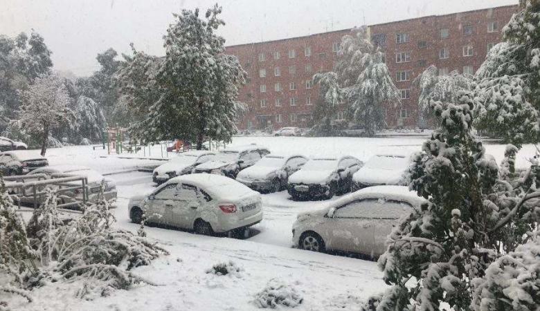 Снегопад обещают на старте недели в Кемеровской области