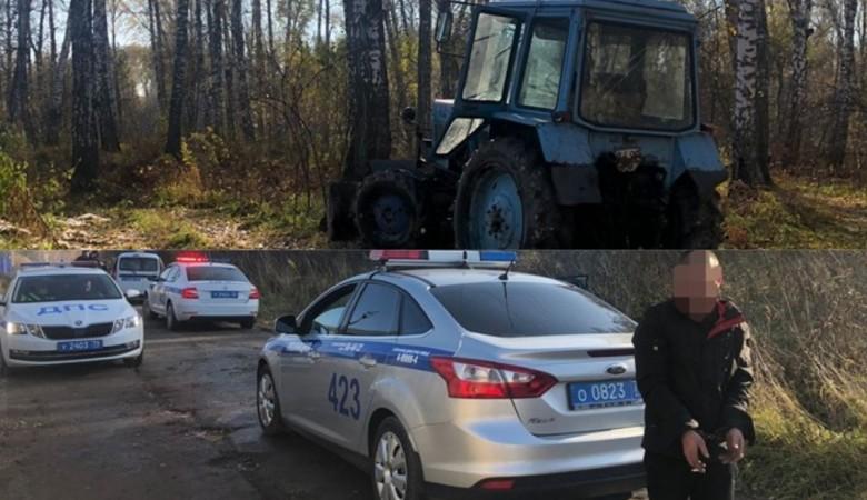 В Томске пьяный водитель трактора устроил погоню с полицейскими