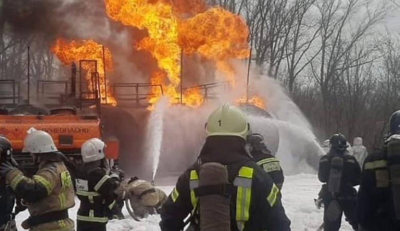 АЗС взорвалась в селе Лебяжье в Барнауле