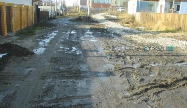 Жители поселка под Барнаулом вынуждены самостоятельно строить дорогу